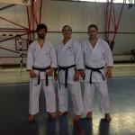 Liviu (st.) şi Zoli (dr.) cu sensei J.-P. Fischer